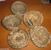 5 x JUTE NESTS - NEST LINER FOR BREEDING BIRDS - CANARY